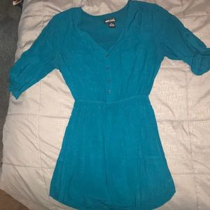 Wet Seal fall turquoise Quarter Sleeve dress